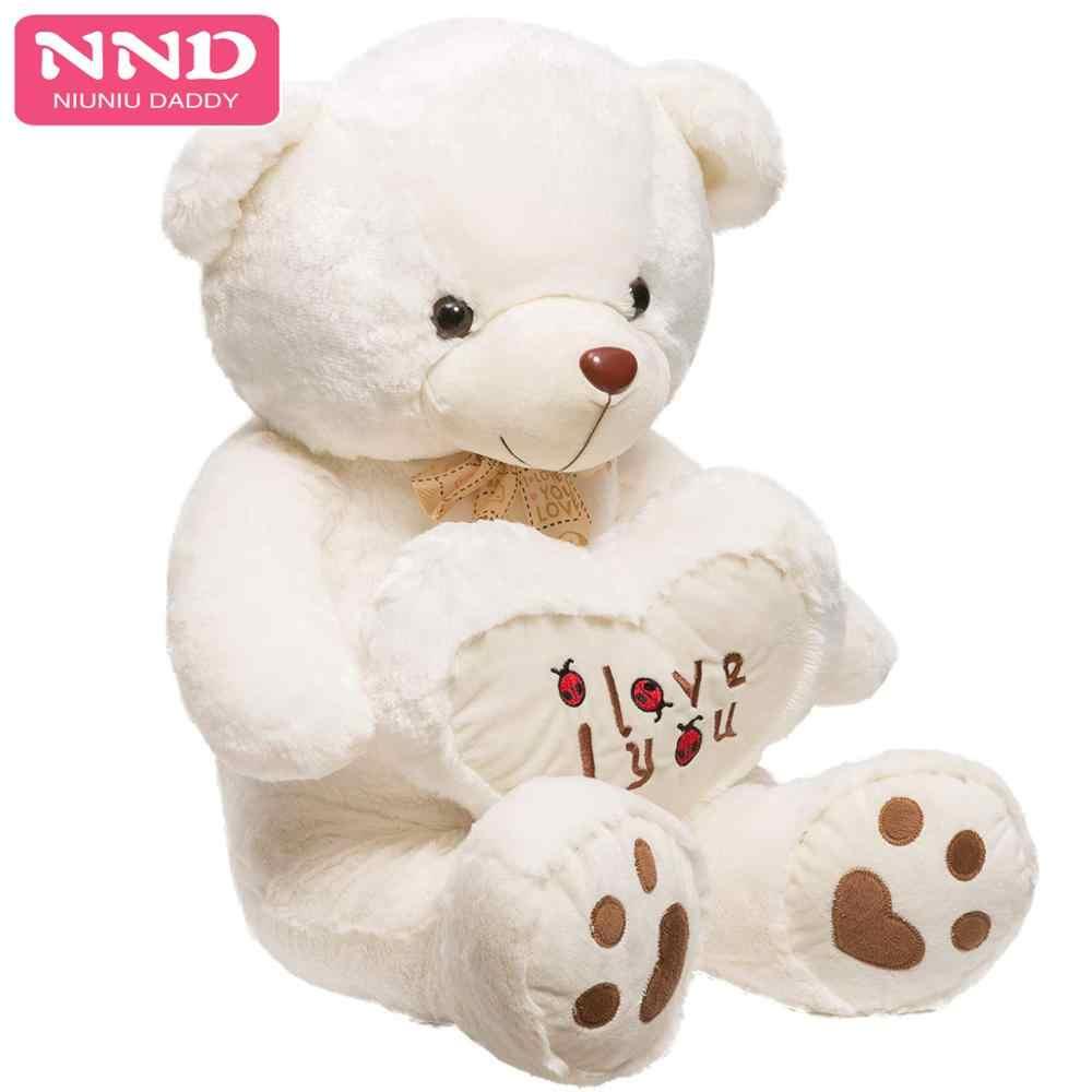 Brinquedos de pelúcia da pele do urso de pelúcia grande do luxuoso da pele do urso de peluche para o dia dos namorados