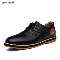 Brand Formal Shoes Genuine Leather Men's Dress Shoes Black Oxfords LUXURY Wedding Shoes New Business Office Shoes Men