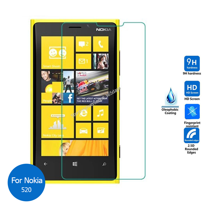 For Nokia lumia 520 Tempered glass Screen Protector 2.5 9h Safety Protective Glass Film on Rm-915 pelicula de vidro