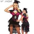 MOONIGHT Negro de Alta Calidad Trajes de Mago Mujeres Fantasia Cosplay Disfraces de Halloween para las mujeres