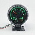 """Novo 3.75 """"Carro Ponteiro do Tacômetro Bitola Métrica 0-8000 RPM Rev Contador Verde Diodo Emissor de luz Auto calibre Livre grátis"""