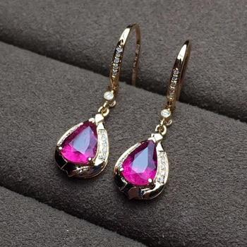 factory wholesale SGARIT brand new fashion 18k real gold Amethyst natural gemstone Imbue Diamond stud earrings jewelry 2