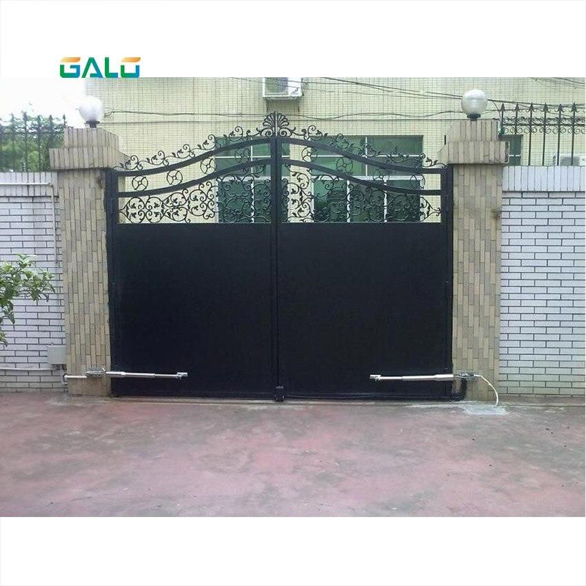Galo duplo uso doméstico automático à prova d' água 300 kg de porta dupla swing portão abridor kit cor Opcional (óleo Anticongelante tem foi adicionado) - 5