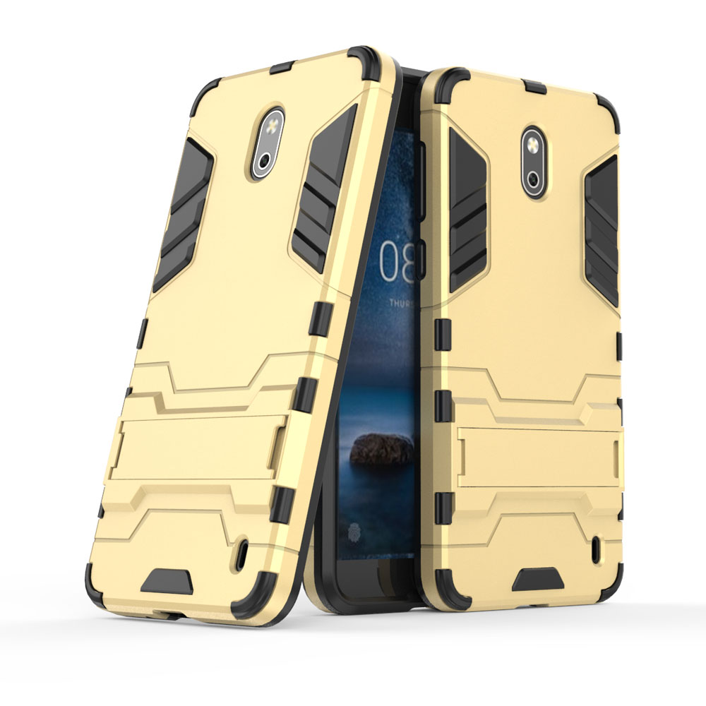 2 In 1 TPU Hard PC Hybrid Armor Case With Kickstand Shockproof Impact Protective Back Shell Cover For Microsoft Nokia 2 Nokia2 in Fitted Cases from Cellphones Telecommunications