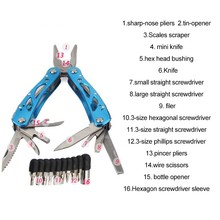 Superior Multifunctional Hand Tools For Outdoor Camping Portable Pliers Repair Pocket Folding Knife Screwdriver Set Multitools