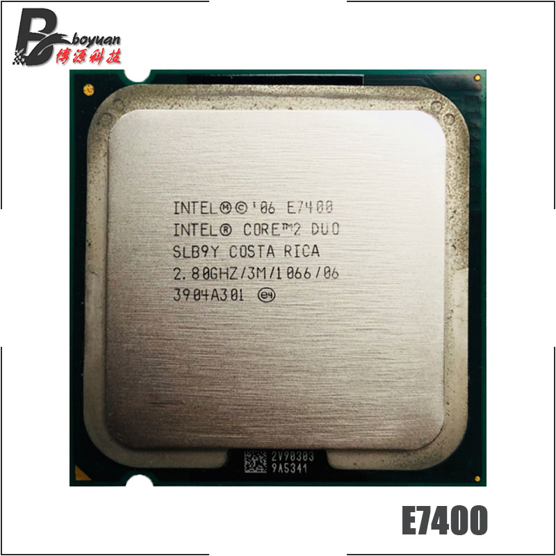 CPU Processor SLGW3 SLGQ8 SLB9Y Original Intel Core 2 Duo E7400 2.8GHz LGA 775