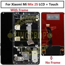 Xiaomi Panel de cristal Mix 2S Mix2S LCD con Marco, Digitalizador de pantalla táctil, montaje de repuesto