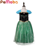 PaMaBa Snow Queen ANNA Cosplay Costume Girls Princess Dress Children S Clothes Halloween Christmas Tutu Dress