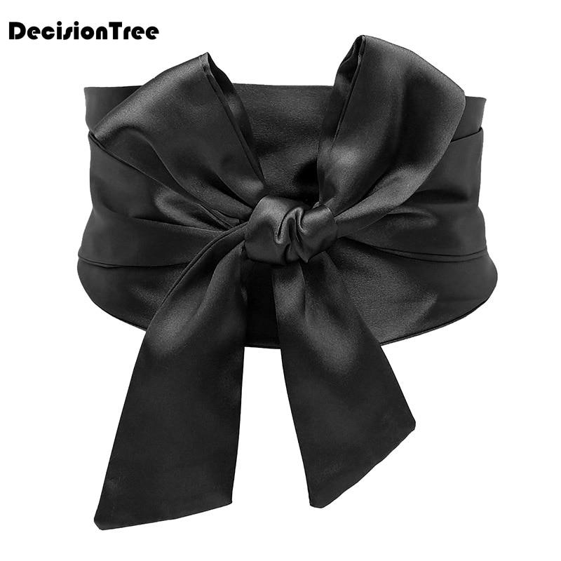 2020 Solid Color Wide Belt Tassel Ethnic Wind Vintage Wide Waist Japanese Kimono Waist Sealing Length Accessories