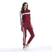Knitted Casual Tracksuit Pant Suits 2018 Fashion Elegant 2 Piece Set Women Pullover hoodie Sweater + Trousers Set