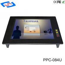 """공장 매장 저가 8.4 """"터치 스크린 팬리스 산업용 패널 pc 프로세서 인텔 코어 I5 3317U 옵션 I7 3517U"""