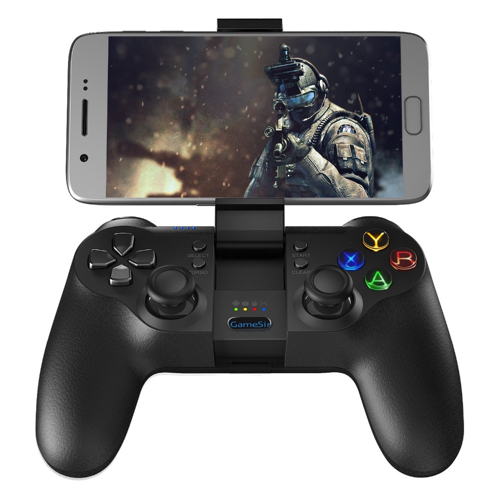 GameSir T1s Bluetooth Game Controller Phone Gamepad Wireless Joypad Joystick with chip for Android/PC Windows/ Samsung VR/TV Box gamesir f1 gamepad game controller phone analog joystick grip for all android