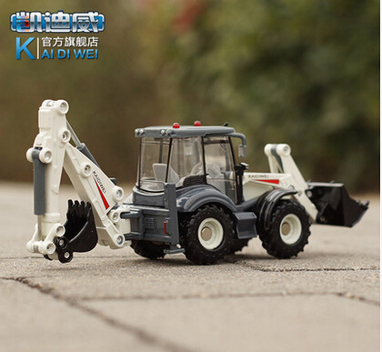 Candice guo plastic toy Device alloy two-way forklift truck car model 1:50 excavator digger kid children birthday christmas gift