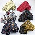 Novelty Ties For Men Cartoon Music Dollar Santa Claus Print Tie For Christmas Gift Gravata Mens Necktie For Wedding Party Shirt