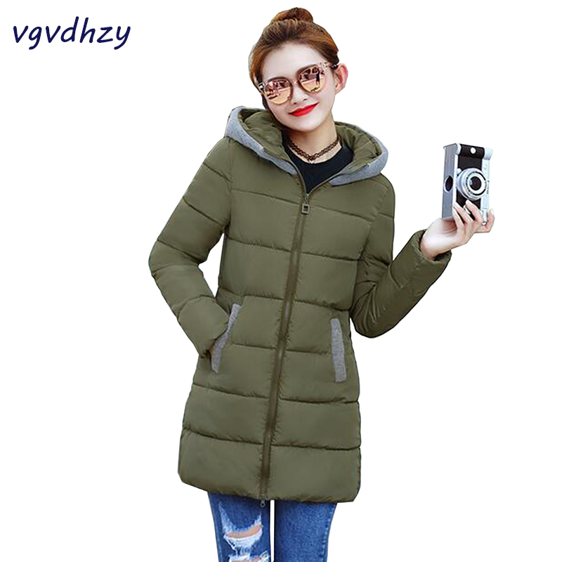Winter Jacket Women Parka 2017 New long Thick Cotton Padded Warm Coat Hooded Loose long Jacket Female Plus Size Outerwear LU461