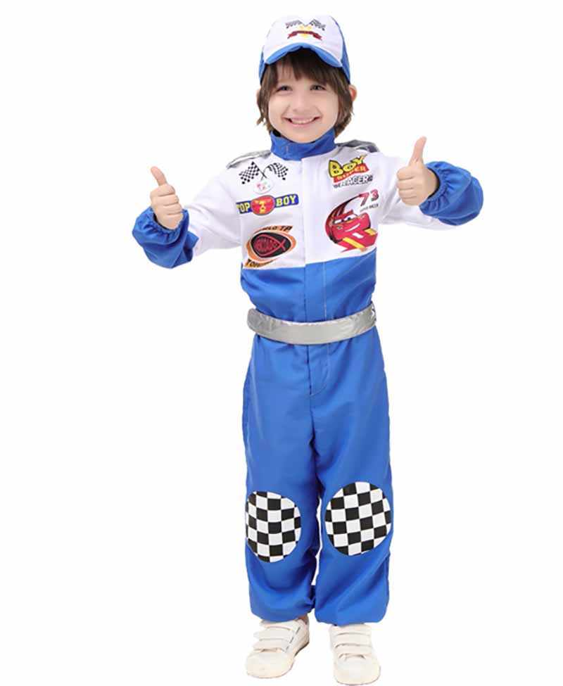 New Disguise Child Boy Halloween Racing Driver Cosplay Costume Birthday Gift Childrens Fancy Dress Outfit For