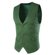 Vest Men Formal Business Party Mens Dress Vest Suit Male Colete Masculino Gilet Homme Casual Vest Dress Men 5 Colors 9038