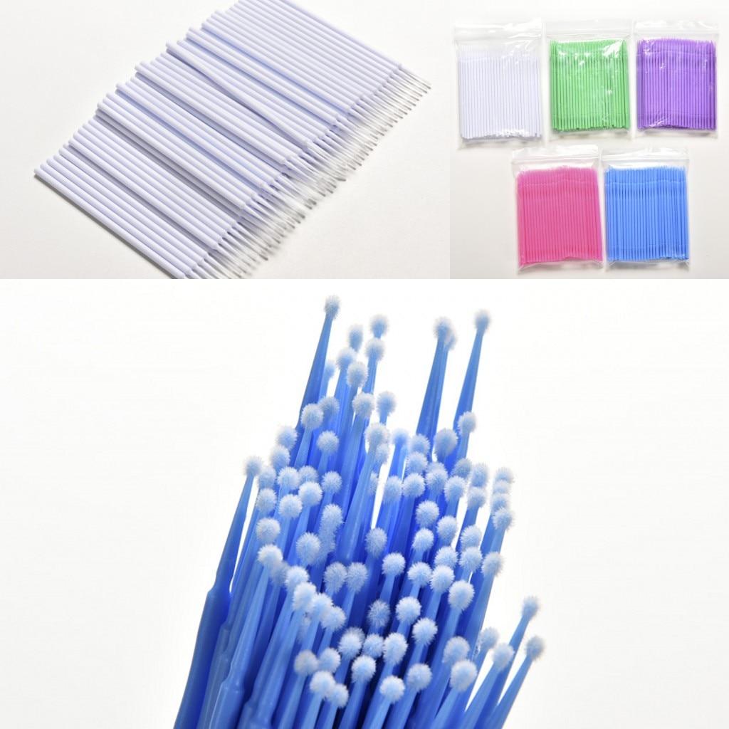 New 100pcs Cosmetic Disposable Microbrushing Brushes Liquid Lipstick Lipgloss Brush Wands Applicator Lip Brushes Drop Shipping