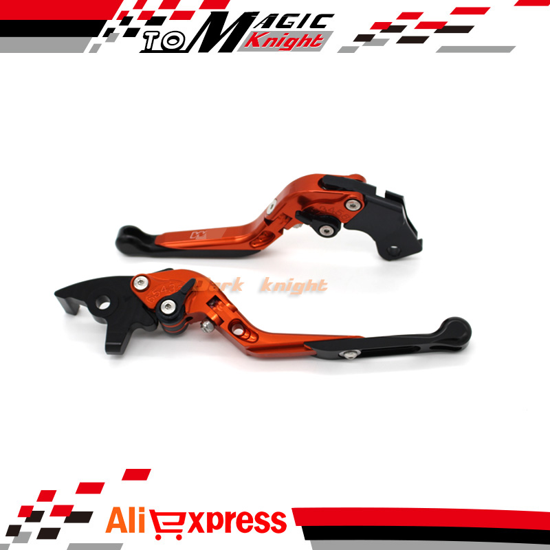 ФОТО For KTM 690 DUKE /SMC-R 2014-2015 Motorcycle Accessories Adjustable Folding Extendable Brake Clutch Levers LOGO