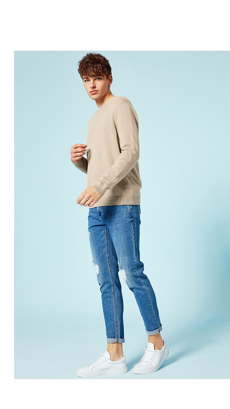 SEMIR New Brand Wool Sweater Men 19 Autumn Fashion Long Sleeve Knitted Pullover Men Cashmere Sweater High Quality Clothes 13