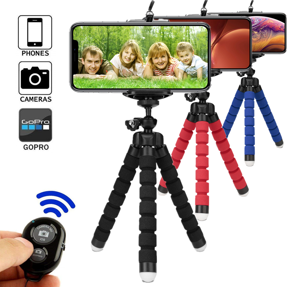 Tripod for phone tripod monopod selfie remote stick for smartphone iphone tripode for mobile phone holder bluetooth tripods image