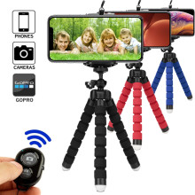 Tripod for phone tripod monopod selfie remote stick for smartphone iphone tripode for mobile phone holder bluetooth tripods(China)