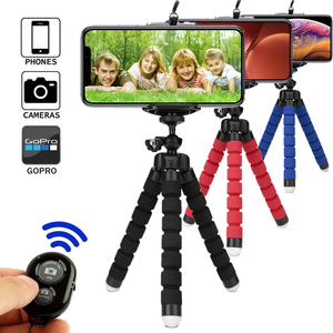 Image 1 - חצובה עבור טלפון חצובה חדרגל selfie מרחוק מקל עבור smartphone iphone tripode עבור טלפון נייד מחזיק bluetooth חצובות