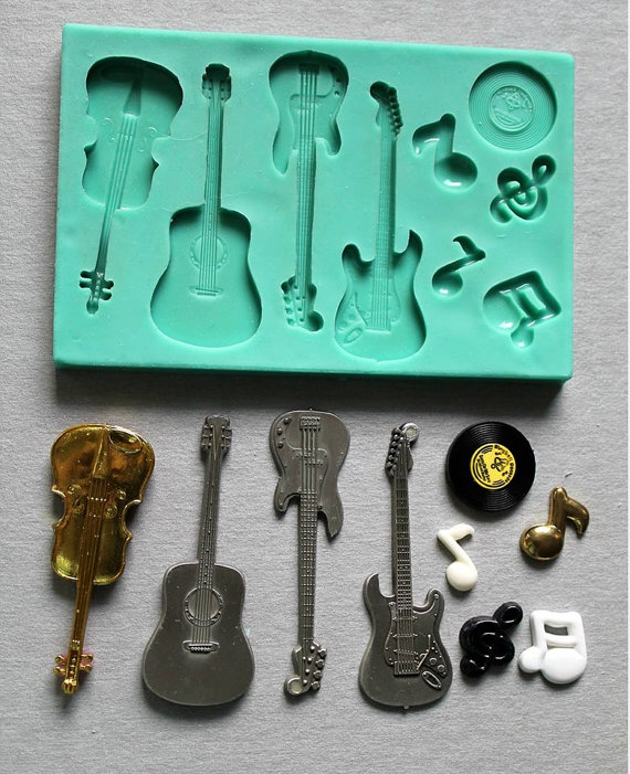 Силиконовые формы для гитары fandont, формы для гитары из силикагеля, шоколадные формы для скрипки, формы для гитары s, конфеты, силиконовые форм...