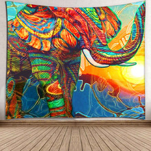 Elephant Tapestry Mandala Indian Tapestry Wall Hanging Printed Ornament Seaside Mat