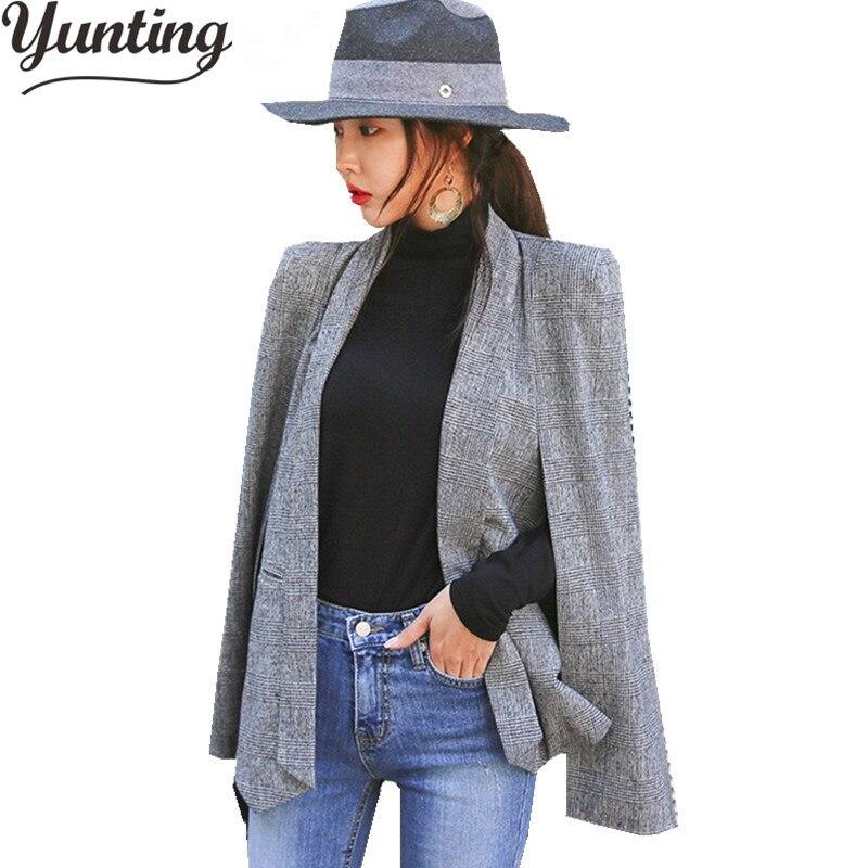 Autumn Winter Suit Notched Collar Blazer Women 2018 Formal Jackets Work Office Lady Long Sleeve Blazer Outerwear Plus Size