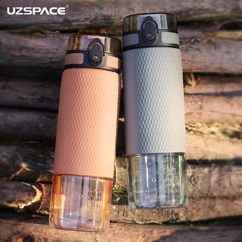 UZSPACE 350ml/500ml Fruit Tea Water Bottle Silicone Case Portable Fashion Plastic Outdoor Sports My Drink Water Bottle BPA Free|Water Bottles|   - AliExpress