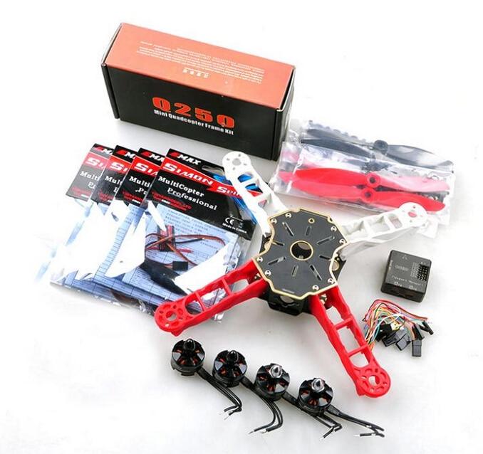 HMF Totem Q250 4-Axis Quadcopter ARF Combo with Motor & ESC & Prop & CC3D Flight Controller SKU:11509 f11069 mini 250 rc quadcopter combo arf q250 frame cc3d flight controller emax simon 12a esc brushless motor mt2204 cw ccw fs