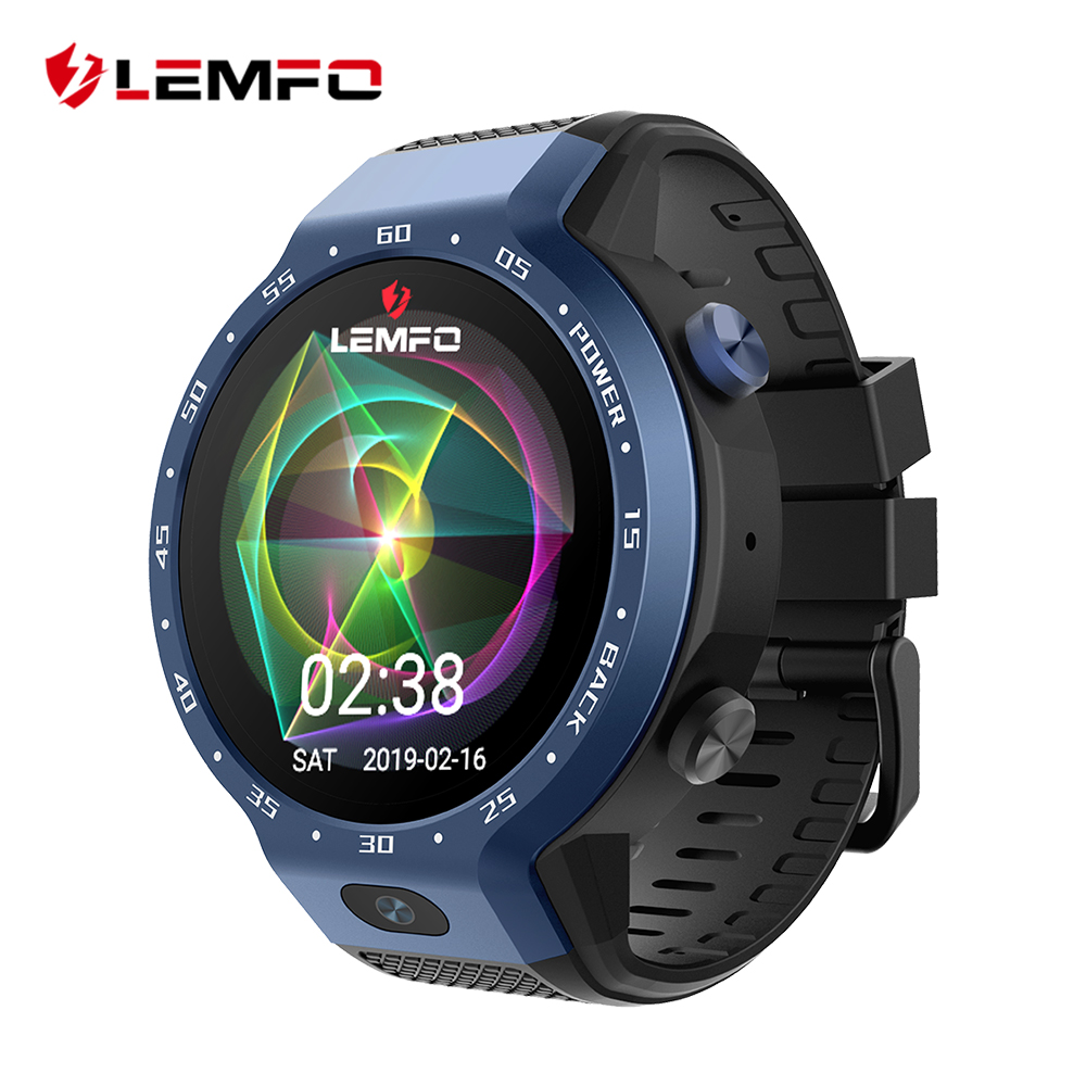 LEMFO LEM9 Double Systèmes 4G montre connectée android 7.1 1.39 Pouces 454*454 Affichage 5MP caméra avant 600 batterie mah Smartwatch Prévente