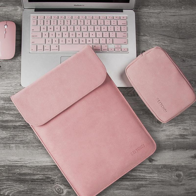 Bilgisayar ve Ofis'ten Dizüstü Bilgisayar Çanta ve Kılıfları'de Mat Laptop çantası 13 14 15 15.6 inç dizüstü bilgisayar kılıfı Macbook Pro için Hp Dell Asus 15 13 durumda Mac kitap hava 13 Laptophoes