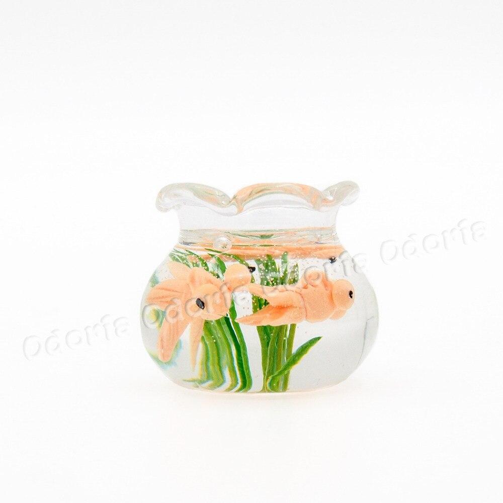 Fish aquarium online buy - Odoria 1 12 Miniature Gold Fish Tank Bowl Aquarium Dollhouse Furniture Accessories China