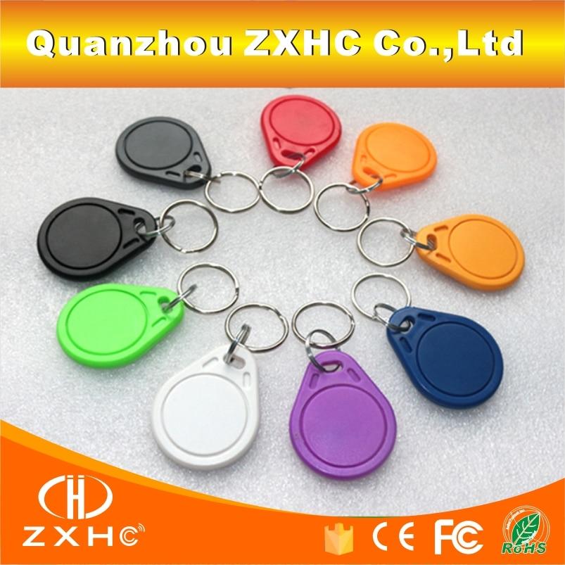 (10PCS/LOT) 13.56mhz M1 S50 Compatible Fudan RFID Keyfob Keychain Tag Key Fob