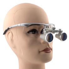 3.5x Magnification Professional Binocular Dental Loupes with Silver BP Sports Frame 360-460mm working distance