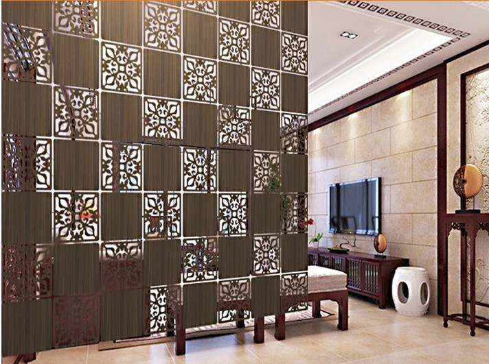 4pcs Lot Entranceway Hanging Wooden Carved Cutout Carving Room Divider Parion Wall Biombo Dividers Parions 39cmx39cm In Screens