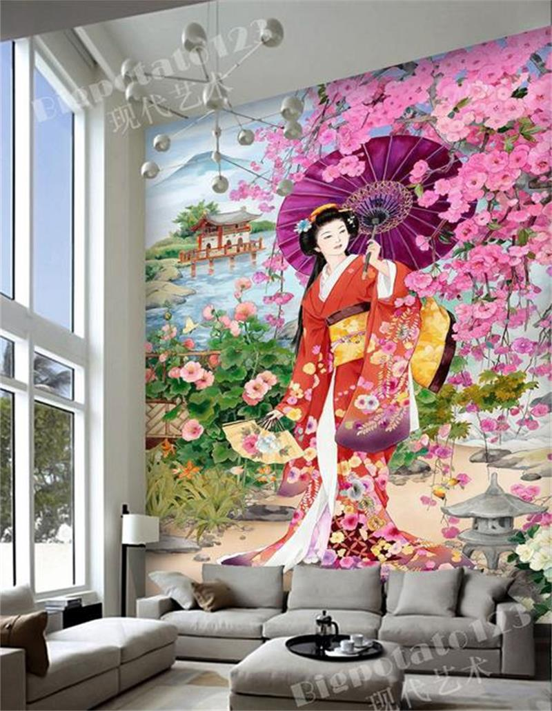 3d room photo wallpaper mural custom Non-Woven sticker rose japan beauty Painting sofa TV background wall wallpaper for walls 3d 3d wallpaper custom mural non woven wall sticker 3d flowers and blue sky and white cloud ceiling murals wallpaper for walls 3d