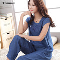 Ladies Summer pajamas Cotton short-sleeved Middle-aged Cotton Thin Section Tracksuit Suit