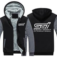 Осень-зима пальто автомобиля Subaru Sti логотип утолщение теплые кофты мужские хлопковые повседневные пальто Флисовые Кофты мужские s толстовки