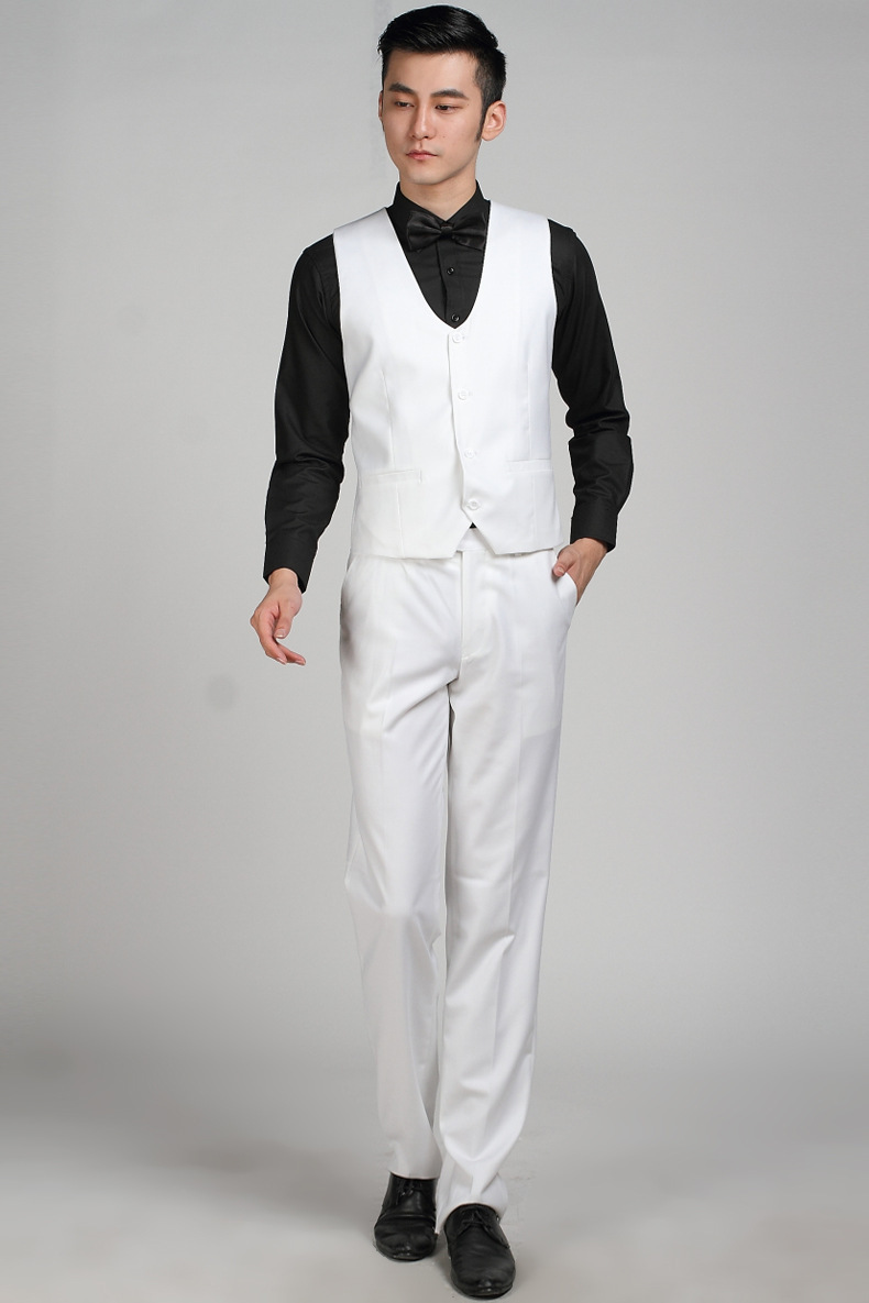 European Brand Fashion White Wedding Vest Men Party Vest Business ...