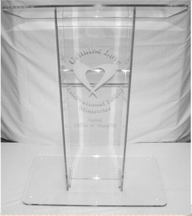 Free Shipping Modern Customized Acrylic Lectern For Church Pulpit  Acrylic Church Lectern Podium