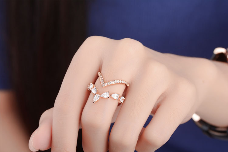 High Quality New Jewelry Fashion Design Shiny Zircon 925 Sterling Silver Adjustable Size Rings for Women Gift Drop Shipping in Engagement Rings from Jewelry Accessories
