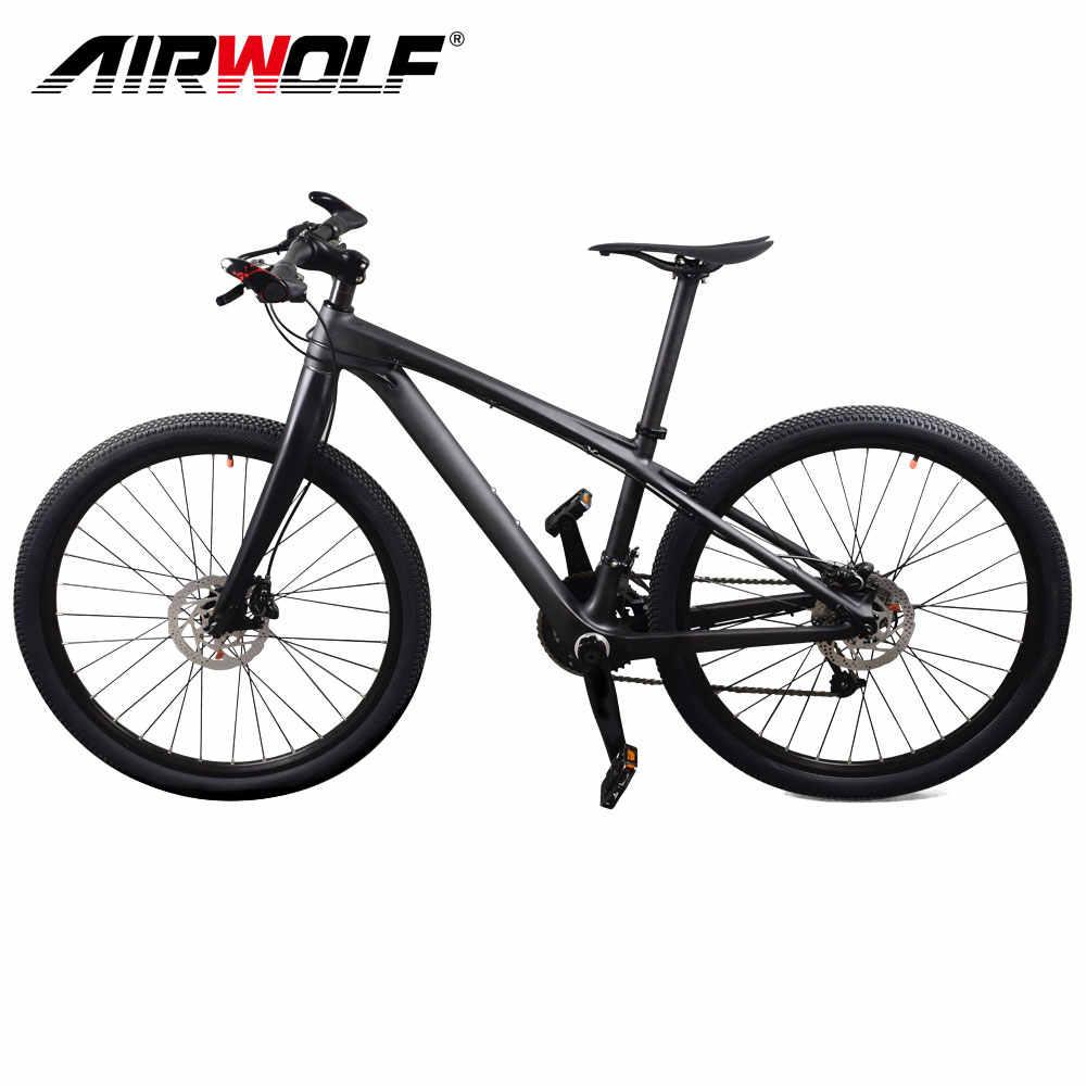2018 Airwolf углерода горного велосипеда 26er Сверхлегкий 9 кг, углеродный руль для велосипеда 27 скоростной велосипед дисковый тормоз для детей горный велосипед Bicicletas