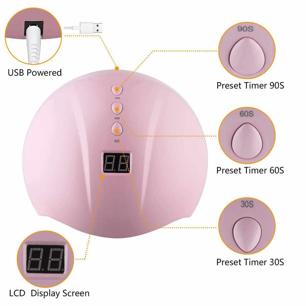 נייל מייבש LED UV מנורת 36 W LED/UV ג 'ל פולני אור מייבש אלחוטי נטענת ציפורניים ג 'ל uv מנורת אמנות כלים