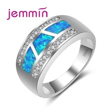 Jemmin Hot Women Simple Rings For Party Jewelry Accessory S925 Stamped Sterling Silver Rhinestone Wedding Engagement Finger Ring
