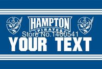 Hampton Pirates YOUR TEXT Flag 3ft X 5ft Polyester NCAA Banner Flying Size No 4 144