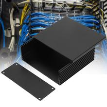 Circuit Board PCB Instrument Aluminum Casing Cooling Box DIY Electronic Project Enclosure Case 2pcs aluminum alloy pcb instrument shell electric plate wall mounting enclosure project box diy 122x44x160mm new