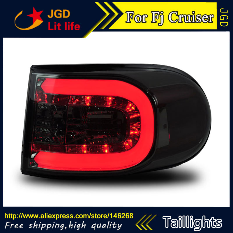 Car Styling tail lights for Toyota Fj Cruiser 2007-2014 taillights LED Tail Lamp rear trunk lamp cover drl+signal+brake+reverse car rear trunk security shield cargo cover for toyota land cruiser lc200 2008 2017 black beige high qualit auto accessories